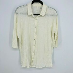 Eileen Fisher 3/4 Sleeve Oversized Tunic Shirt